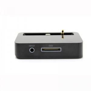 Lightning 8-Pin Data / Charging Docking Station with 3.5mm Audio Jack for iPhone 5