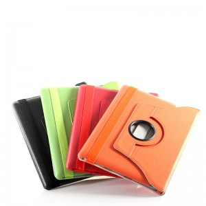 Protective Swivel Leather Case for iPad 2 / The New iPad (Green)