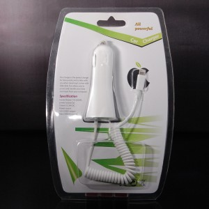 Car Charger w/ Lightning 8-Pin Male Cable / Dual USB Charging Port for iPhone 5 Apple iphone 5/ iPad 4 - White