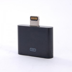 30-Pin Female to Lightning 8-Pin Male Adapter for iPad Mini / iPhone 5 / iPod Touch 5 Black