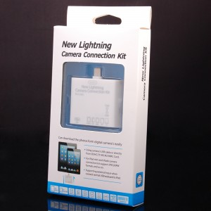 8-Pin Lightning Camera Connection Kit SD / SDHC / TF / MMC / MS Card Reader for iPad Mini / iPad 4