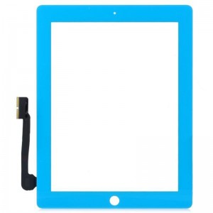 Replacement Touch Screen Digitizer Module w/ Back Button Assembly for iPad 3 - Light Blue