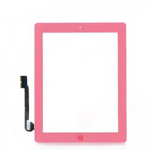Replacement Touch Screen Digitizer Module w/ Home Button Assembly for the New iPad - Pink