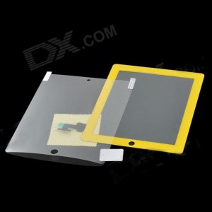 Replacement Toughened Glass Touch Screen with HD Screen Guard Film for iPad 2 - Yellow