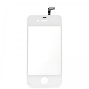 Replacement PVC + Glass Touch Screen Module for iPhone 4 - White