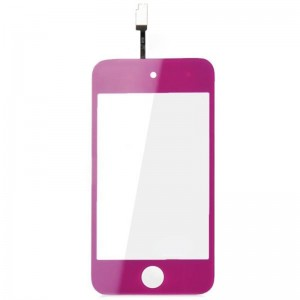 Replacement Glass Touch Screen Digitizer Model for iPod Touch 4 - Purple