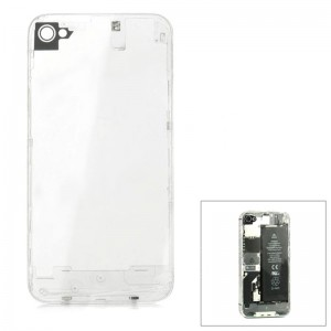 Unique Replacement Toughened Glass Battery Back Cover for iPhone 4S - Transparent