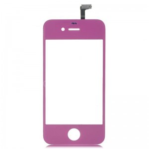 Replacement Glass Touch Screen Digitizer for iPhone 4S - Purple