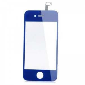 Replacement Glass Screen for iPhone 4 - Dark Blue + Transparent