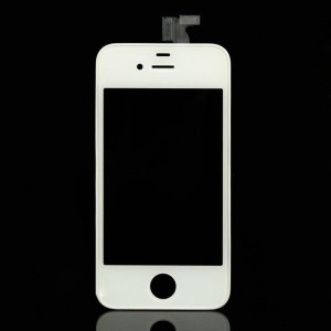 Replacement Touch Screen Digitizer + LCD Display Screen for iPhone 4 - White
