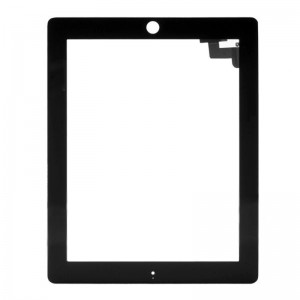 Replacement Touch Digitizer w/ Screen Protector + Cleaning Cloth for iPad 2 - Black