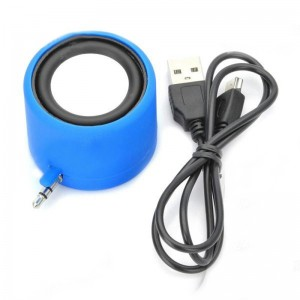 Fashion Surround Sound Mobile Speaker for iPhone - Blue (3.5mm Jack)