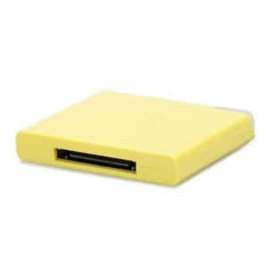 Ultra-thin Bluetooth V2.0 Music Receiver for Apple 30pin Speaker - Yellow
