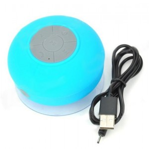 BTS-06 Water Resistant Bluetooth Speaker w/ Suction Cup for iPhone 5 - Blue