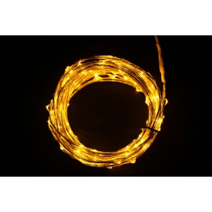 Urparcel 10M 100 LED Copper Wire Christmas Outdoor String Fairy Light(Yellow)