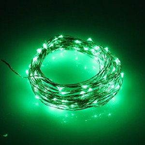Urparcel 10M 100 LED Copper Wire Christmas Outdoor String Fairy Light(Green)