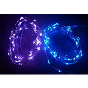 Urparcel 10M 100 LED Copper Wire Christmas Outdoor String Fairy Light(Blue)