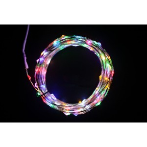Urparcel 10M 100 LED Copper Wire Christmas Outdoor String Fairy Light(Multi-Color)