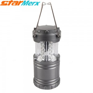Urparcel 30 LED Camp highlighting Lamp, Super Bright Camping Lantern, Suitable for Hiking, Camping, Outages; Color: Grey