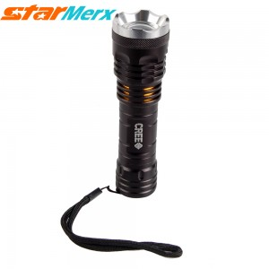 Urparcel H6 Adjustable Zoom LED Lamps with 3 modes, Super Bright Diving Flashlight with maximum 8600 Lumens, Used for hiking, hunting, exploring, camping; Color: Gold