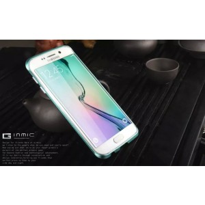 Eastvita Hot Sale New Scratch-proof Luxury Aluminum Metal Bumper Thin Case Cover for Samsung Galaxy S6 Edge Blue
