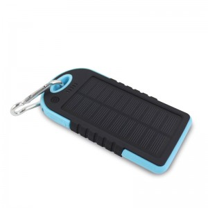 EastVita 8000mAh Waterproof Solar Panel External Battery Power Bank Pack Charger Dual USB, Model For iPhone 6, Color Blue