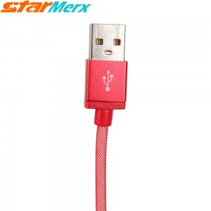 EastVita V8 Hi-Speed Mesh Aluminum alloy USB Cable for Charging Sync Apply to Android Samsung XiaoMi HTC MeiZu Huawei (Color Red)