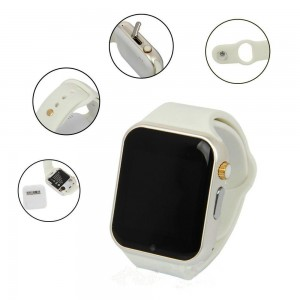 EastVita A1 Bluetooth Waterproof GSM Touch Screen Smart Wrist Watch For Android IOS Phone White