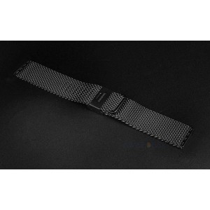 EastVita Replacement Milanese Stainless Steel Bracelet Strap Band for Apple Watch 42mm WITHOUT Adapter Color Black