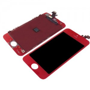 EastVita Touch Screen Digitizer and LCD Display Assembly Replacement for iPhone 5 Red