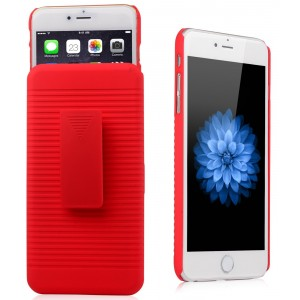Eastvita New Hot Sale General Apple iPhone 6(5.5) and iPhone 6S Plus Ultra Slim Hard Skin Case Cover Shell Supporting Frame Three In One Mobile Phone Protection Shell Shock-Absortion Impact Resistant For Your Smartphone Must-have Cell Phone Accessory Red