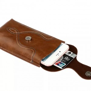 Eastvita PU Leather Case Pouch Sleeve Bag Cover Belt Holster For Apple iPhone 6 or 6 Plus Brown