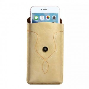 Eastvita PU Leather Case Pouch Sleeve Bag Cover Belt Holster For Apple iPhone 6 or 6 Plus Khaki