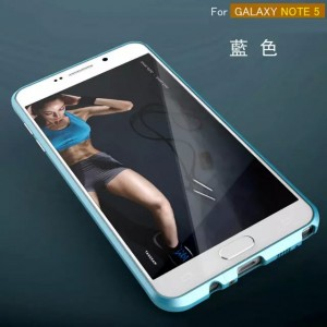 Eastvita Hot Sale New Scratch-proof Luxury Metal Bumper Frame Case Cover For Samsung Galaxy Note 5 Blue