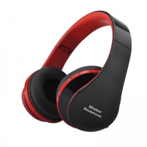 Eastvita Foldable Wireless Bluetooth Stereo Headset Handsfree Headphones For iPhone color:red