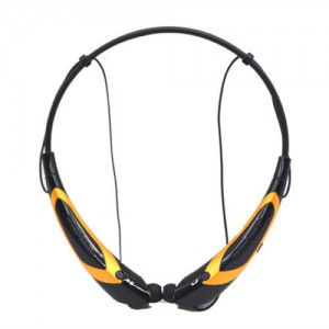 EastVita Sport Wireless Bluetooth 4.0 Headset Headphone Stereo Earphone for iPhone Samsung LG HTC Tablet laptop Color Black/Yellow