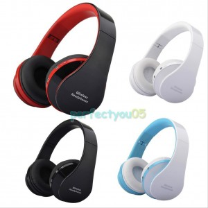 Eastvita Hot Sale New Wireless Bluetooth Foldable Headset Stereo Headphone Earphone for iPhone Samsung Blue