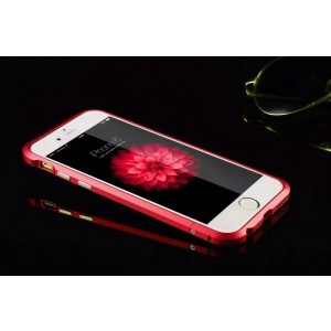 Hot Sale New Scratch-proof Luxury Aluminum Ultra-thin Metal Bumper Case Cover for iPhone 6 6S Red