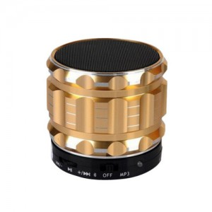 Eastvita Portable Mini Bluetooth Speakers Wireless FM Radio Support SD Card For iPhone Color Golden
