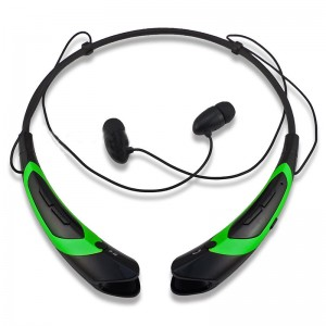 EastVita Sport Wireless Bluetooth 4.0 Headset Headphone Stereo Earphone for iPhone Samsung LG HTC Tablet laptop Color Black/Green