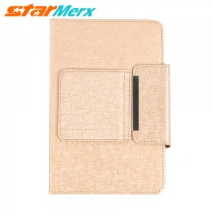 7 inch/8 inch Keyboard Case Holster with lines; Color: Gold