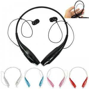 Eastvita Hot Sale New Wireless Bluetooth HandFree Sport Stereo Headset headphone for Smartphone Mobile Red