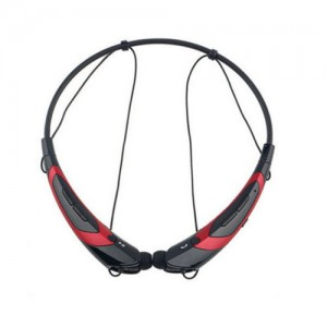 EastVita Sport Wireless Bluetooth 4.0 Headset Headphone Stereo Earphone for iPhone Samsung LG HTC Tablet laptop Color Black/Red