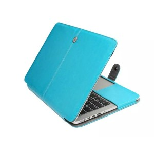 Eastvita PU Leather Laptop Sleeve Bag Case Cover for MacBook Air 13.3 Blue