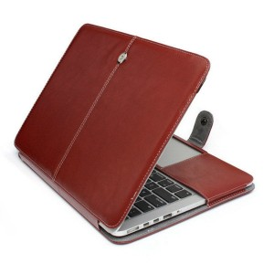 Eastvita PU Leather Laptop Sleeve Bag Case Cover for MacBook Air 13.3 Brown