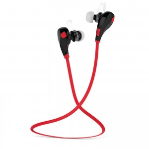 EastVita QY7 Bluetooth Wireless Headset Stereo Headphone Earphone Sport Universal Handfree Color Red