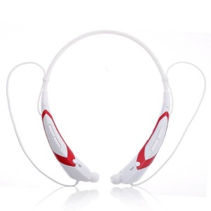 EastVita Sport Wireless Bluetooth 4.0 Headset Headphone Stereo Earphone for iPhone Samsung LG HTC Tablet laptop Color White/Red