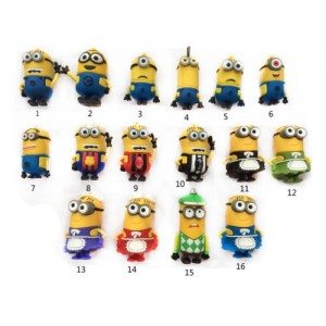 Cartoon Minions toy model USB 2.0 Memory Stick Flash pen Drive 4GB