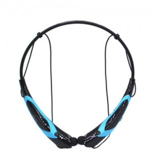 EastVita Sport Wireless Bluetooth 4.0 Headset Headphone Stereo Earphone for iPhone Samsung LG HTC Tablet laptop Color Black/Blue