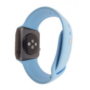 EastVita SILICONE WATCH BAND STRAP BRACELET WRISTBAND FITNESS REPLACEMENT FOR APPLE WATCH 42MM LIGHT BLUE M/L